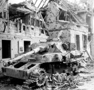 WWII German Tank Destroyed