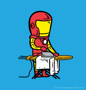 Who has ever thought that Iron Man would be ironing the clothes in his ...