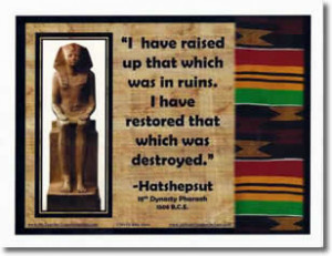 Poster: Hatshepsut Quote