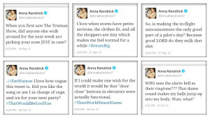 twitter tweets love her Anna Kendrick annakendrick