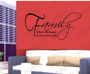 Holiday Sale Family Life Love Removable Vinyl Wall Art Words Stickers ...