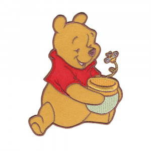Disney Winnie The Pooh Iron On Applique Pooh, Honey Pot & Bee ...