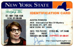 Newly released New York Driver's License-austinpowersnydriverslicense ...