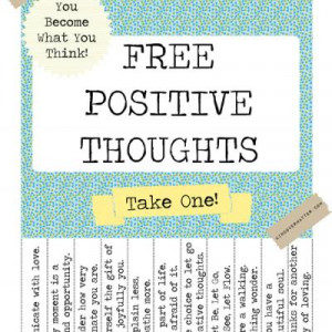 Free Positive Thoughts Poster {Free Printables}