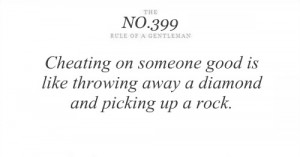 Cheating On Someone Good Is Like throwing away a Diamond and Picking ...
