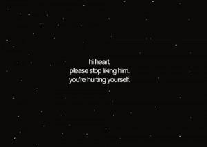heart, him, hurt, love, quote