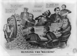 ... William Fessender, Edwin Stanton, William Seward, and Gideon Wells