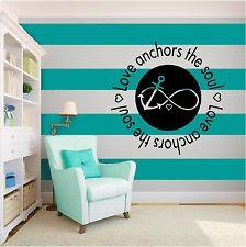 New Love Anchors Infinity Symbol Inspirational Vinyl Wall Art quote ...