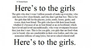 Here's to the girls..