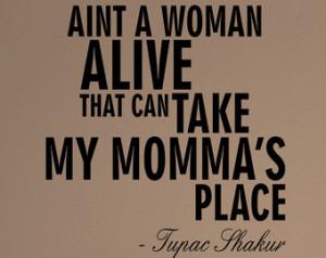 Tupac Shakur Dear Mama Quote Decal Sticker Wall Vinyl Music ...