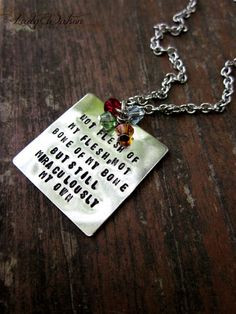 Hand Stamped Adoption Quote Necklace with Birthstones $28 #adoption ...