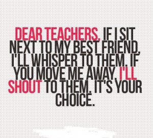 funny #weheartit #girly #school #talking #girls #quote #haha