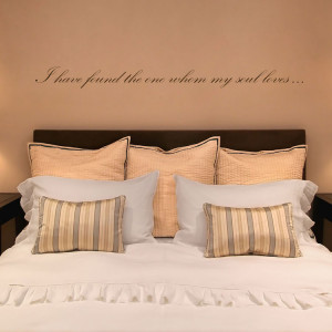 home quotes i have found the one whom my soul loves quote love wall ...