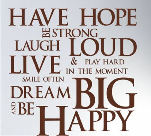 Hope Be Strong Laugh Loud Live Smile Often & Play Hard In The Moment ...