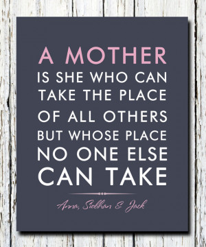 for mom from children, kids, Personalized Mother's Day Verse Quote ...