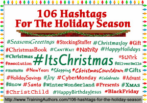106 Hashtags for the Holiday Season - Training Authors for Success