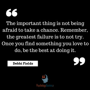 ... try. Once you find something you love to do, be the best at doing it