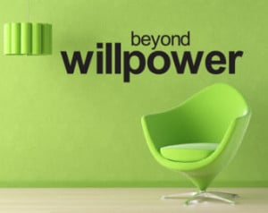 Wall Quote Beyond Willpower W all Quote Home Decor Motivational Quote ...