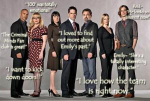 Criminal Minds Fans Colette's Criminal Minds FOTM Interview Quotes!