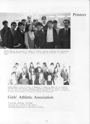 Gerry as a Junior - photo of Printers, listed as