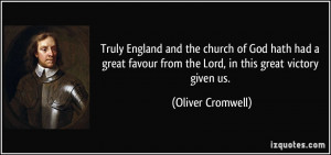 ... from the Lord, in this great victory given us. - Oliver Cromwell