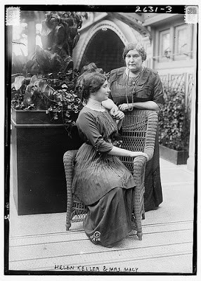 seated) with her teacher and friend Anne Sullivan (later Anne Sullivan ...