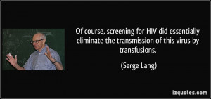 More Serge Lang Quotes