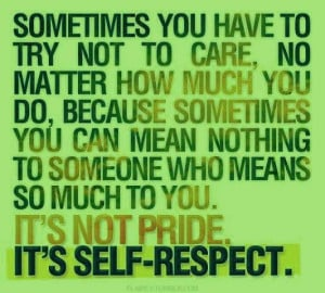 Self Respect and Dignity | self-respect