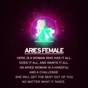 Aries Characteristics Female Aries female