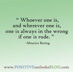 Rudeness : Quotes
