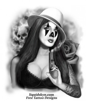 Gangster Clown Tattoo : Coolest Gangster Clown Tattoo Picture ...