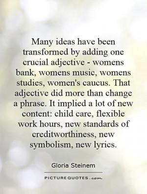 adjective - womens bank, womens music, womens studies, women's caucus ...