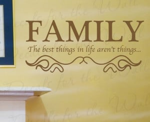 Family Vinyl Wall Quote Decal