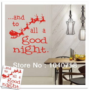 Red-Merry-Christmas-Good-Night-Reindeer-Rudolph-Vinyl-Quote-Wall ...