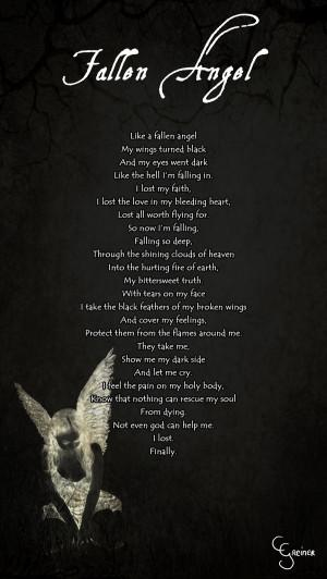 Fallen Angel Poem by carpenoctem410