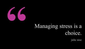 In stressful situations, it really isn't the people, or the ...