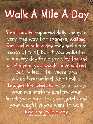Walk A Mile A Day