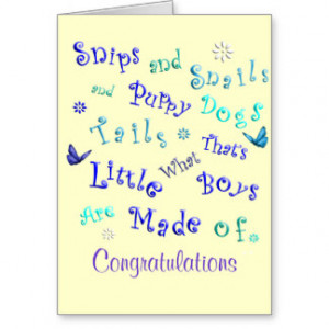 It's A Boy Cute New Baby Congratulations Card