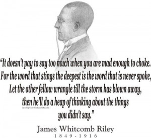 ThinkerShirts.com presents James Whitcomb Riley and his famous quote ...