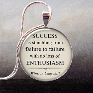 Churchill quote pendant charm on Success funny quote humorous ...