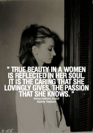 true beauty in a woman | audrey hepburn