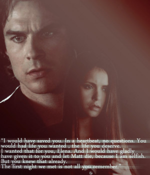 Elena And Damon Quotes Damon and elena by bloodymary-