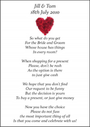 Wedding Money Poems x 75 many Designs Honeymoon, Wishing Well Savings ...
