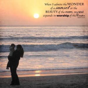 Wonder of a Sunset Scrapbook Layout -