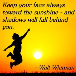 Walt Whitman on cheering up