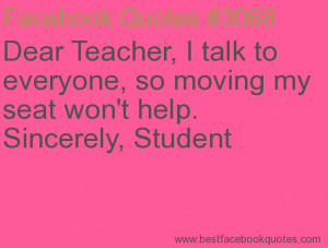 ... won't help. Sincerely, Student-Best Facebook Quotes, Facebook Sayings