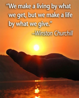 Generosity quote - Winston Churchill