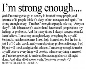 Im strong enough