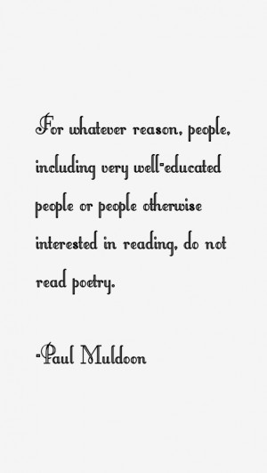 Paul Muldoon Quotes