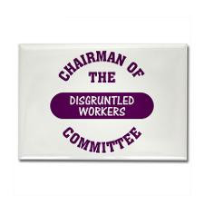Committee of Disgruntled Employees Rectangle Magne for